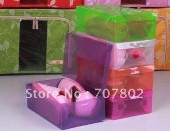 Promotions!Hot Sale flip-open cover Stackable Transparent Plastic Shoe Boxes/ Storage case/Clear Shoes box
