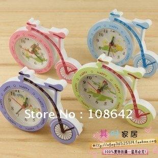 Free Shipping 10pcs/lot Fashion New Adorable Bicycle Modelling Clock, Novel Mini Bike Shaped Lovely Alarm Clock, Table Clock
