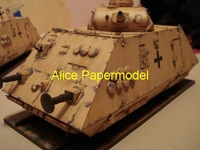 [Alice papermodel] Long 30CM 1:25 WWII German armored train locomotive models