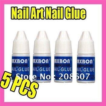 Freeshipping Nail Tool Nail Cement Nail Art Nail Glue 50x3g Acrylic Nail Glue Nail Art False Tips