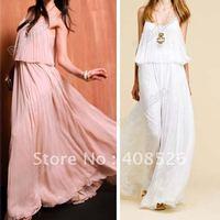 Женское платье Women Stretch Cotton Maxi Slim Sexy Backless Sundress Long Dress 2 Colors 3725