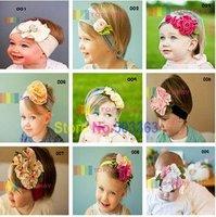 40pcs/lot  Top Baby Headbands,Cotton Headbands,Kid's Headbands,Baby Fashion Headdress