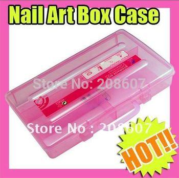 Freeshipping New Durable Plastic Box Nail Art Tool Decoration Box Plastic Box Manicure Tool Storage Box