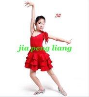 Wholesale Children's Dresses,Girls Dance Wear,Latin Ballroom Clothes Latin Dance Drees 3 Colors 20pcs Free Shipping