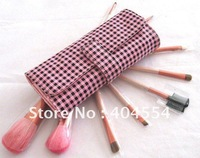 Free shipping 9 Pieces/Sets Professional Pink Makeup Brush Sets Cosmetic Brush Kit+Pink Case