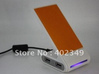 Factory Price Popular 4Ports 2.0 Hi-Speed USB Hub+Metal Phone Holder+cellphone Charger+Computer Gifts