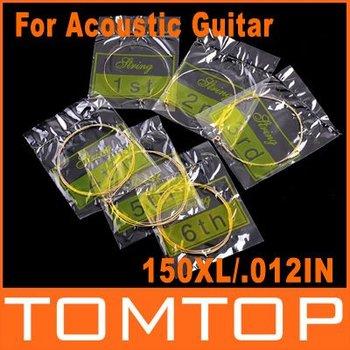 6pcs 150XL/.012in Acoustic Guitar Strings I61