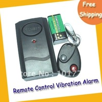 Free shipping Remote Control Vibration Alarm -- Wireless Vibration Alarm with infra-red remote control for Door Window - Black