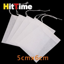 1000Pcs/lot Empty String Heat Seal Filter Paper Tea Bag 5X6CM [5253|01|1K](China (Mainland))