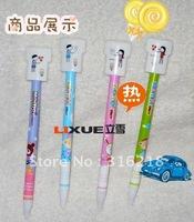 NEW! Promotion Plastic ball pen,ball point pen,cartoon Press the lovers ballpoint pens free shipping