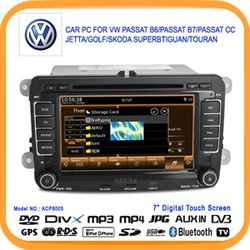 7'' Car DVD GPS Car PC Radio For VW Passat B6/Passat B7/Passat CC/Jetta Car DVD for Golf/ Skoda Superb/Tiguan/Toura (ACP8005)(China (Mainland))
