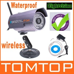 Waterproof Outdoor Nightvision Network Wireless IR WIFI IP Camera,with retail box, S136, freeshipping,dropshipping wholesale(China (Mainland))
