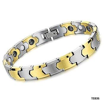 (min order 10$)FASHION JEWELRY TUNGSTEN STEEL Bracelets 9mm18k gold plated bracelet magnetic bracelet energy magnet  jewelry 935