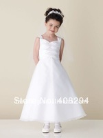 New arrival sleeveless A-line flower girl dress