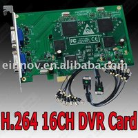 H.264 CCTV 16ch Network DVR card PCI-E port F35