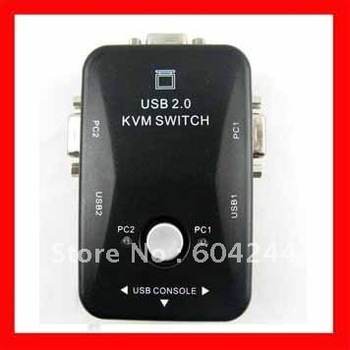 2 Port USB KVM Keyboard Video VGA/SVGA Mouse Switch Box