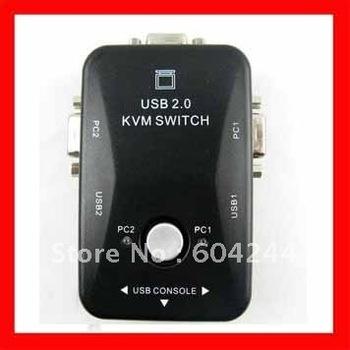 2 Port USB KVM Keyboard Video VGA/SVGA Mouse Switch Box