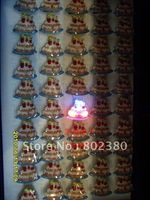 Hot sales Free Shipping Novelty LED Flashing Cute Cartoon Ring Fashion Ring led ring Color Changing Mixed Design
