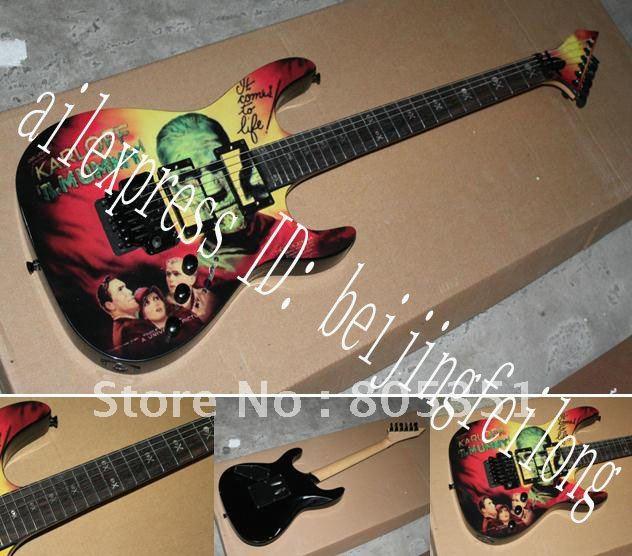 Kirk Hammett Miniature Guitar Collectible Metallica Karloff Mummy#9(China (Mainland))