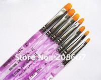 Freeshipping 7 Sizes Professional UV Gel Brush Nail Art Painting Draw Brush Nail Pen Wholesales