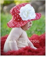 Sample order! free shipping_ Bonnet / beret / fine grid forward hat / baby hat