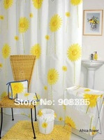 "AL-42 78*78"" warm sunflower bathroom shower curtain,girl's gift, special gift"