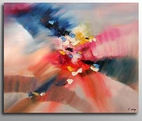 Huge Modern Abstract Animasl Cow Art Oil Painting Guaranteed 100% Free shipping YP663