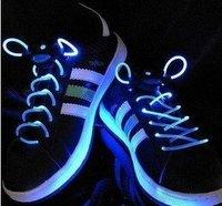 free shipping!novelty product! 50pcs/lot Fiber Optic LED Shoe laces shoelaces neon led strong light gadgets LED laces 25pairs