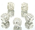 10pcs/lot New Charms Sparkling Crystal Beads Europe  of high quality beads Fit European bracelets  And Diy Bead 925 Silver #G1