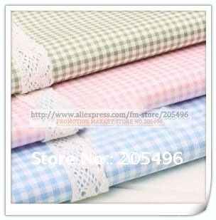 Classic Lattice design cotton Fabric Cloth material for upholstery bedding quilting Clothing curtain Free shipping(China (Mainland))