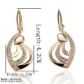 Freeshipping 18k gold plated jewelry,Rhinestone Crystal earrings,fashion earrings,earrings