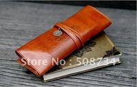 3pcs/lot Twilight, retro leather strap pencil case, Wholesale Twilight, retro leather strap pen bag