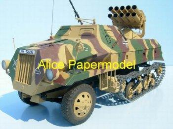 [Alice papermodel]1:35 1:25 1:18 WWII German Maultier Rocket launcher vehicle katyusha Katusa truck car models