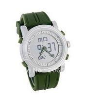 Silicone Band LCD Digital Wrist Watch (Green),Liquid crystal watch,sports watch. men's watch.women's watch.free shipping