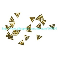 Wholesale Gold Nail Art Gold Metal Flakes Golden Nail Decoration Gold Slices Golden Metalic Shape Free Shipping(China (Mainland))