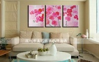 Free shipping handmade oil painting canvas art abstract landscape  home decoration new arrival  3 panels yi01i