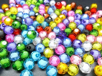 Free shipping, 10mm*10mm transparent acrylic  beads in beads, jewelry beads, bead curtains, crafts beads, cut beads, beads