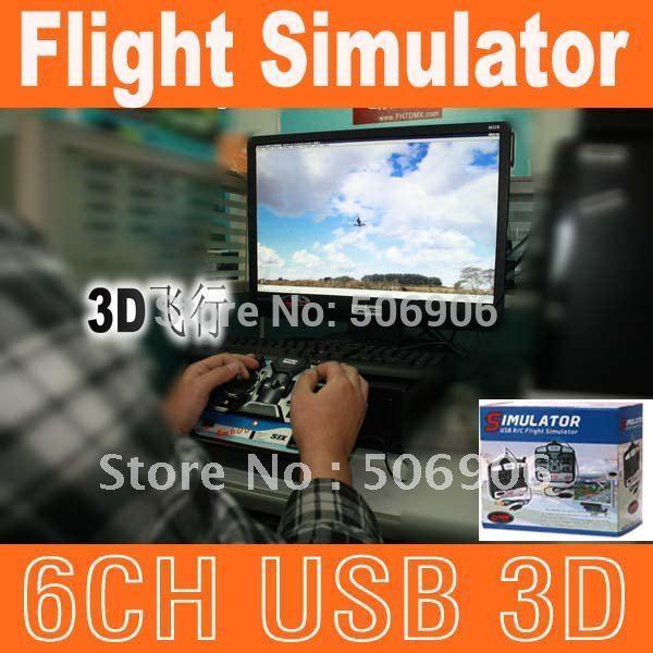 6CH USB 3D RC Helicopter Flight Airplane Simulator Realflight G4 Reflex XTR Aerofly Phoneix enjoy your fly Drop Shopping(China (Mainland))