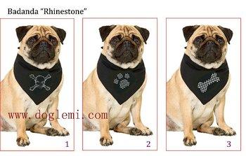 Free shipping !  MOQ: 10pcs/lot , Wholesale dog Bandana, dog scarf,  3 different motiv available , with rhinstones,  Unit size