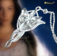 Bahamut Lord of the Rings Silver Plated Arwen Evenstar Necklace Pendant High Quality Free With 60cm Chain Christmas Gift