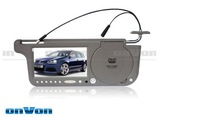 Car Sun Visor DVD Player 7 inch Left Right Side LCD SD USB slot for all the countries Free shipping