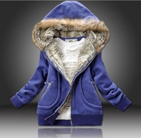 Free Shipping,New arrival, autumn and winter, cold, thick, cap, fashion, warm, casual, ladies, jacket, sweater