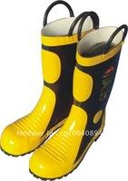 Wholesale/Retail Fire Protective Rubber Boots Oil-proof Acid Resistant