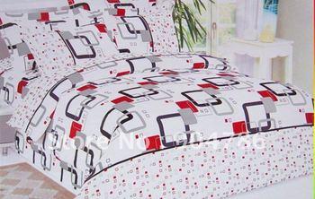 Free Shipping 100% cotton hot selling 4pcs bed set/bedding sets duvet cover Bedding sheet bedspread pillowcase Set linen Twill