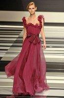 Elie saab style chiffon high fashion dresses