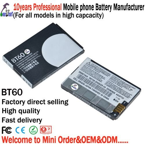 Wholesales - cell phone battery BT60 for motorola ME511 A3100 Q8 Q9 XT301 A1210 Q11 A1680 - 800mAh - 60pcs/lot - free shipping(China (Mainland))