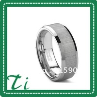 Customize  fashion jewelry Free Shipping 8mm Mens Womens brushed Shiny Polish Tungsten jewelry Rings