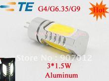 spedizione gratuita ( 40 pezzi ) + new high power led g4-4.5w-c tramite il commercio all'ingrosso + al minuto(China (Mainland))