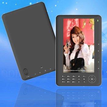 "E book 4GB 7"" E-book ebook Reader PDF TXT DOC,white packing box / free shipping"