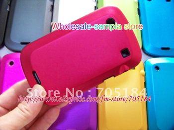 Dual colorful Metal alloy aluminium aluminum skin hard back case soft silicone cover for Blackberry BB Bold 9900 9930 10pcs